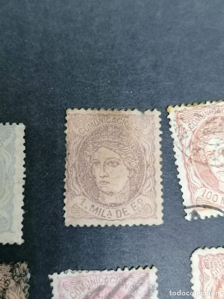 Sellos: España lote 7 sellos Republica I año 1870 CLAVES Usados - Foto 4 - 274168648