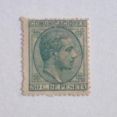 Francobolli: SELLO AÑO 1878 ALFONSO XII, 50 CENTIMOS EDIFIL Nº 196. Lote 276072223