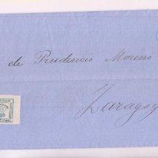Sellos: IMPRESO. BARCELONA A ZARAGOZA. 1880. PAREJA DE CUARTILLOS. Lote 277847518