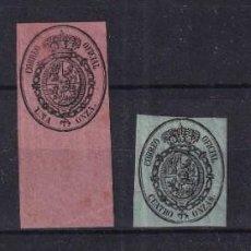 Francobolli: SELLOS ESPAÑA AÑO 1855 OFERTA EDIFIL 35*/38* EN NUEVO VALOR DE CATALOGO 39.5 €. Lote 280168058