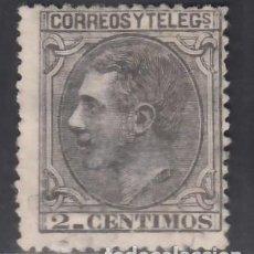 Sellos: ESPAÑA, 1879 EDIFIL Nº 200 (*), 2 C. NEGRO GRISÁCEO,. Lote 283907728