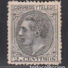 Sellos: ESPAÑA, 1879 EDIFIL Nº 200 (*), 2 C. NEGRO GRISÁCEO,. Lote 283910743