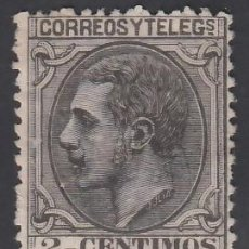 Sellos: ESPAÑA, 1879 EDIFIL Nº 200 (*), 2 C. NEGRO GRISÁCEO,. Lote 283910893