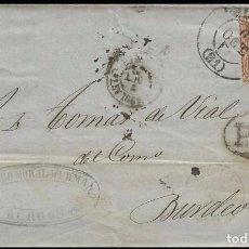 Sellos: CARTA EDIFIL 167 BURGOS AMBULANTE SANTANDER. Lote 285814653