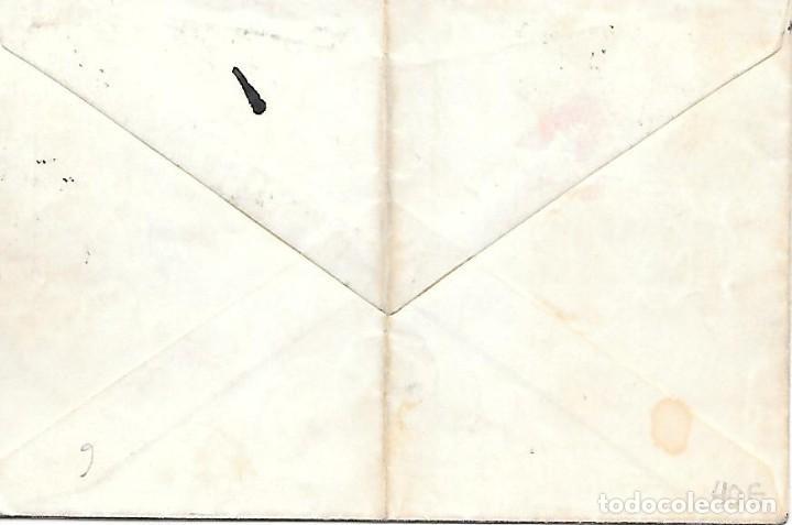 Sellos: EDIFIL 202 BISECTADO. SOBRE CIRCULADO DE BARCELONA A PARIS 1889 - Foto 2 - 286306278