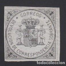 Sellos: ESPAÑA, 1875 EDIFIL Nº 172 /*/, S/V NEGRO S. AZUL, ESCUDO DE ESPAÑA. Lote 286864808