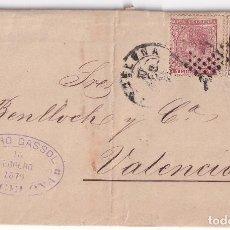 Sellos: CARTA ENTERA. BARCELONA A VALENCIA. 1879. IMPUESTO DE GUERRA. TRÉBOL DE LLEGADA. Lote 287373318