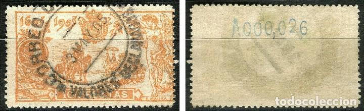 Sellos: ESPAÑA 1905 QUIJOTE EDIFIL 266 USADO MATASELLOS Y SELLO CENTRADO PRECIOSO - Foto 3 - 287784173