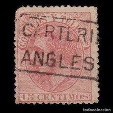 Francobolli: CARTERÍA ALFONSO XII 15C.GERONA.ANGLES. Lote 287821093
