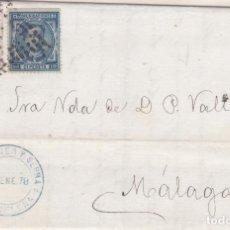 Sellos: CARTA DE BARCELONA A MALAGA, SELLO 175 Y 188 MATASELLADOS DON ROMBO DE PUNTOS. Lote 288538633