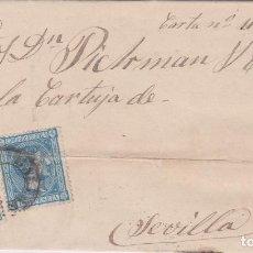 Sellos: CARTA DE PALMA DE MALLORCA A SEVILLA, SELLO 154 Y 164 MATASELLADOS CON FECHADOR SIN BLOQUE FECHA. Lote 288540293