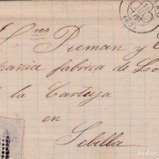 Sellos: CARTA DE BILBAO A SEVILLA, SELLO 204 MATASELLADOS CON ROMBO ESPECIAL DE BILBAO (TORT 634). Lote 288540698