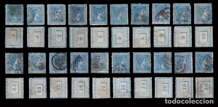 Sellos: 1875.Alfonso XIII.25c.Pliego 100 COMPLETO.Usado.Edifil.164 - Foto 2 - 288620523