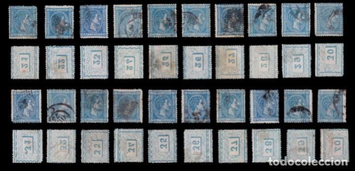 Sellos: 1875.Alfonso XIII.25c.Pliego 100 COMPLETO.Usado.Edifil.164 - Foto 3 - 288620523