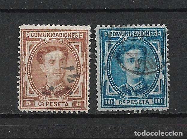ESPAÑA 1876 EDIFIL 174 + 175 USADO - 20/3 (Sellos - España - Alfonso XII de 1.875 a 1.885 - Usados)