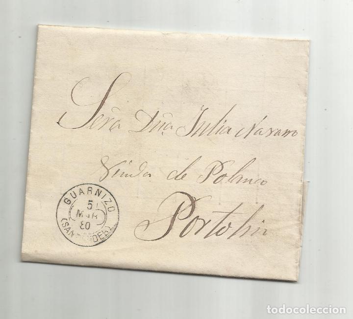 CIRCULADA Y ESCRITA NOTA DE VENTA HARINA 1880 DE GUARNIZO SANTANDER A PORTOLIN (Sellos - España - Alfonso XII de 1.875 a 1.885 - Cartas)