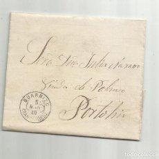 Sellos: CIRCULADA Y ESCRITA NOTA DE VENTA HARINA 1880 DE GUARNIZO SANTANDER A PORTOLIN. Lote 289315918