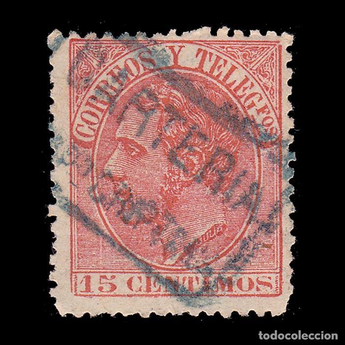 Sellos: CARTERÍA Alfonso XII 15c.CIUDAD REAL. CMPo CRIPTANA - Foto 2 - 289341818