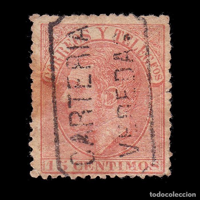 CARTERÍA ALFONSO XII 15C.CIUDAD REAL.VEREDAS (Sellos - España - Alfonso XII de 1.875 a 1.885 - Usados)