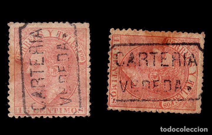 Sellos: CARTERÍA Alfonso XII 15c.CIUDAD REAL.VEREDAS - Foto 2 - 289342098