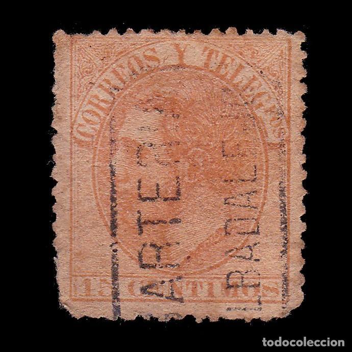 CARTERÍA ALFONSO XII 15C.CIUDAD REAL.ALBADALEJO (Sellos - España - Alfonso XII de 1.875 a 1.885 - Usados)