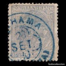 Sellos: ALFONSO XII.1879.25C.TREBOL.ALHAMA EDIFIL 204. Lote 289486033
