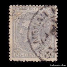 Sellos: ALFONSO XII.1879.25C.TREBOL.COLMENAR MADRID EDIFIL 204. Lote 289486363