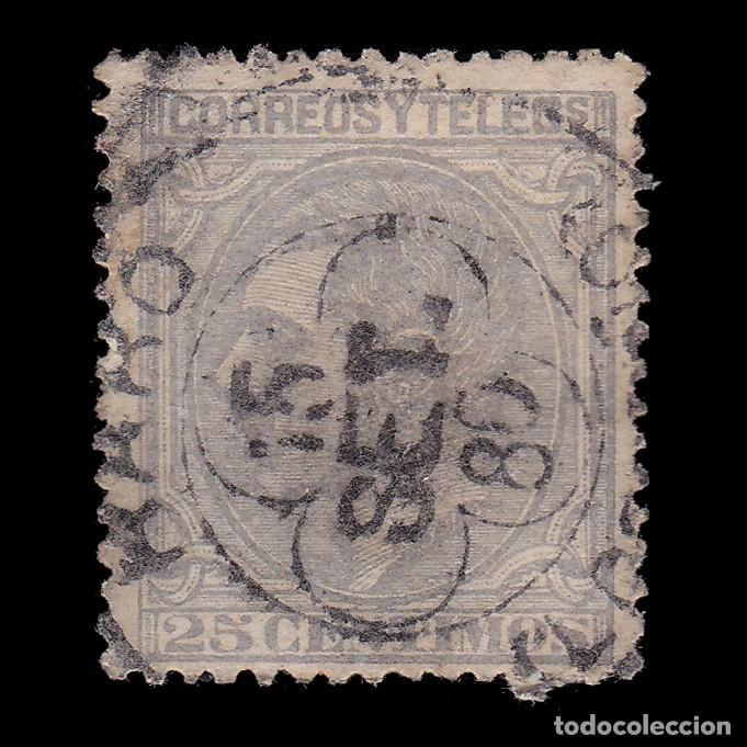 ALFONSO XII.1879.25C.TREBOL. HARO LOGROÑO.EDIFIL 204 (Sellos - España - Alfonso XII de 1.875 a 1.885 - Usados)