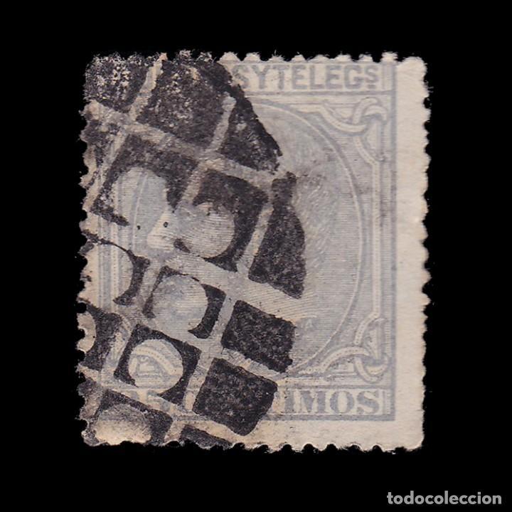 ALFONSO XII.1879.25C.TALADRO PUNTOS LIMADOS. EDIFIL 204 (Sellos - España - Alfonso XII de 1.875 a 1.885 - Usados)