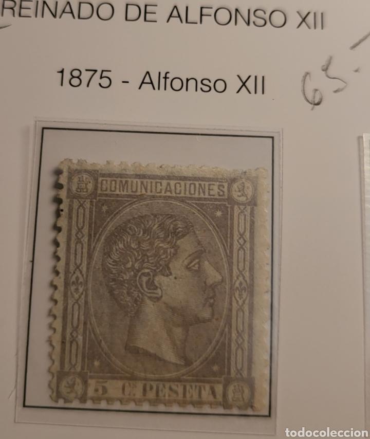 SELLO DE ESPAÑA 1875 ALFONSO XII 5 CENT. DE PESETA EDIFIL 163 NUEVO (Sellos - España - Alfonso XII de 1.875 a 1.885 - Nuevos)