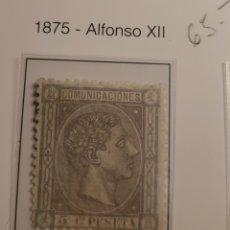 Sellos: SELLO DE ESPAÑA 1875 ALFONSO XII 5 CENT. DE PESETA EDIFIL 163 NUEVO. Lote 289639493