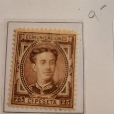 Sellos: SELLO DE ESPAÑA 1876 ALFONSO XII 25 CENT. DE PESETA EDIFIL 177 NUEVO. Lote 289639898