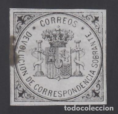 ESPAÑA, 1875 EDIFIL Nº 172 /*/, S/V NEGRO S. AZUL, ESCUDO DE ESPAÑA (Sellos - España - Alfonso XII de 1.875 a 1.885 - Nuevos)