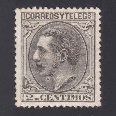 Sellos: ESPAÑA. 1879 EDIFIL Nº 200, /*/, 2 C. NEGRO GRISÁCEO, BIEN CENTRADO. Lote 293645728