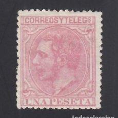 Sellos: ESPAÑA. 1879 EDIFIL Nº 207 /*/, 1 PTS ROSA. Lote 293649853