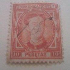 Sellos: ESPAÑA SELLOS AÑO 1876 ALFONSO XII USADO * 10 PESETAS. Lote 293758743