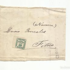 Sellos: FRONTAL CIRCULADA DE BILBAO A FITERO NAVARRA. Lote 295813733