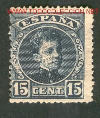 EDIFIL N.º 244 CHARNELA (Sellos - España - Alfonso XIII de 1.886 a 1.931 - Usados)