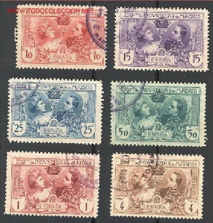 EDIFIL N.º SR1/SR6 USADO (Sellos - España - Alfonso XIII de 1.886 a 1.931 - Usados)