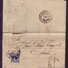 Sellos: ESPAÑA.(CAT.215).1898.IMPRESO DE BILBAO A PORTUGAL. 5 C.PELÓN.FRANQUEO DE IMPRESOS AL EXTRANJERO.RR.. Lote 24169449