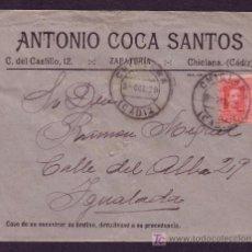 Sellos: ESPAÑA. (CAT. 317A).1929. SOBRE DE CHICLANA A IGUALADA. 25 CTS. MAT. * CHICLANA/CÁDIZ *. MUY BONITA.. Lote 25276660