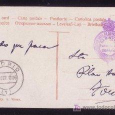 Sellos: ESPAÑA.1906.T.P. DE MADRID A TOCELLÓ.MARCA FRANQUICIA *DIRECCIÓN GRAL. DE CORREOS...*. MUY RARA. Lote 26657291