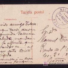 Sellos: ESPAÑA.1907.T.P. DE VALENCIA A BARCELONA.CIRCULADA SIN FRANQUEO.FECHADOR DE VALENCIA.MUY RARA.. Lote 27091681