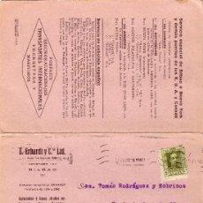 Sellos: ESPAÑA. (CAT. 310). 1928. T.P. DOBLE DE PUBLICIDAD TRANSPORTES MARÍTIMOS DE BILBAO. MUY RARA.. Lote 25472866