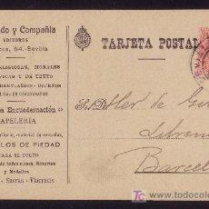 Sellos: ESPAÑA.(CAT.269).1914.T.P.PUBLICIDAD EDITORIAL IZQUIERDO Y CIA.DE SEVILLA.10 CTS.MEDALLÓN.MAGNÍFICA.. Lote 27091510