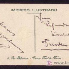 Sellos: ESPAÑA. (CAT. 269). 1912. T. P. APAISADA DE IMPRESO ILUSTRADO DE SAN SEBASTIAN. RARA TARJETA.. Lote 23587368