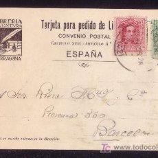 Sellos: ESPAÑA. (CAT. 312, 314). 1928. T. P. PUBLICIDAD DE TARRAGONA A BARCELONA. 5 Y 10 C. VAQUER. BONITA.. Lote 24780810