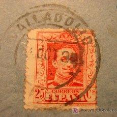 Sellos: SELLO DE 25 CENTIMOS DE ALFONSO XIII. CIRCULADO EN 1930.. Lote 4380685