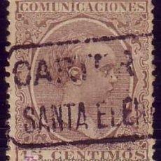Sellos: ESPAÑA. (CAT. 219).15 CTS. PELÓN. MAT. DE * CARTERIA/SANTA ELENA * (JAÉN) AZUL. MUY BONITO.. Lote 23851626