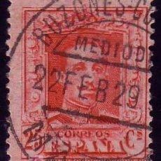 Sellos: ESPAÑA. (CAT.317). 25 CTS. MAT. FECHADOR * BUZONES-COLUMNA/MEDIODIA/MADRID *. BONITO.RARO.. Lote 24931401